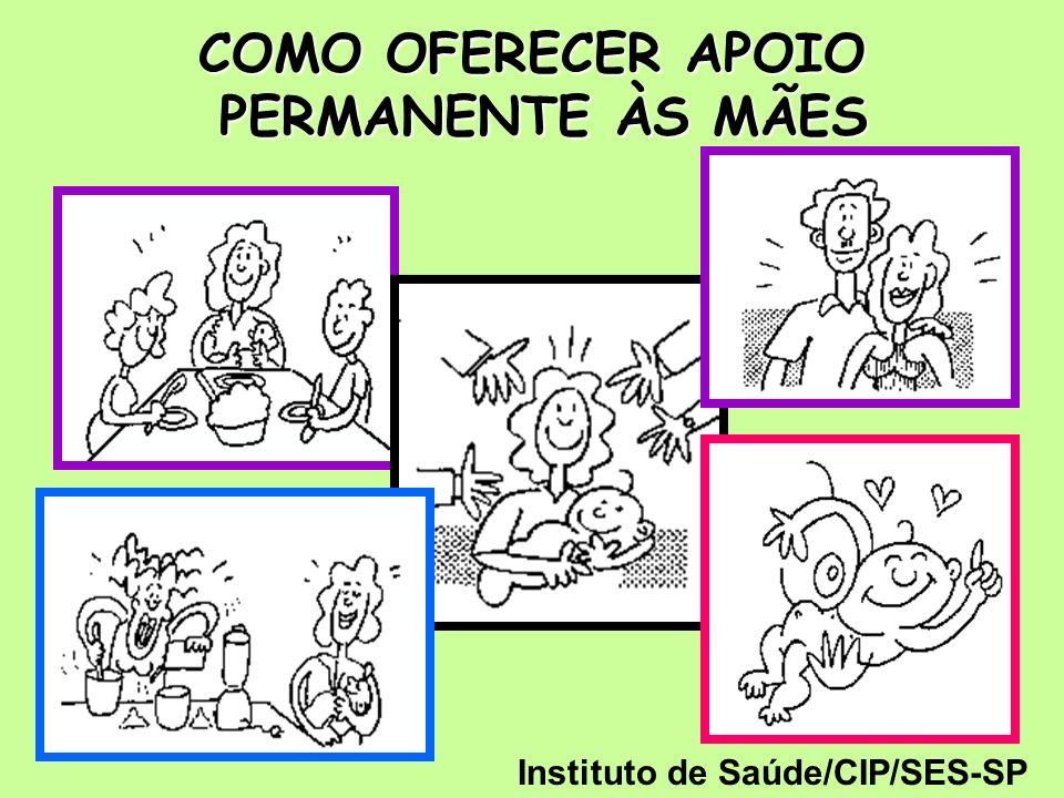 COMO OFERECER APOIO PERMANENTE ÀS MÃES Instituto de Saúde/CIP/SES-SP