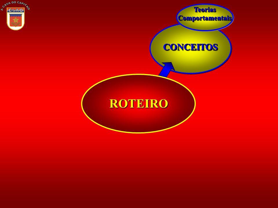 CONCEITOSCONCEITOS Teorias Comportamentais ROTEIRO