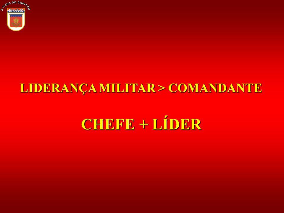 LIDERANÇA MILITAR > COMANDANTE CHEFE + LÍDER
