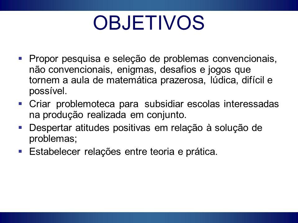 Desenvolvimento e operacionalização A problemoteca é uma coleção de problemas apresentados em fichas individuais.
