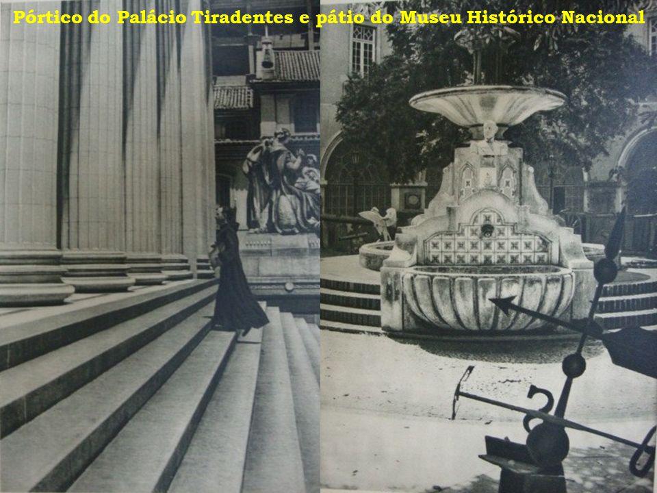 Pórtico do Palácio Tiradentes e pátio do Museu Histórico Nacional