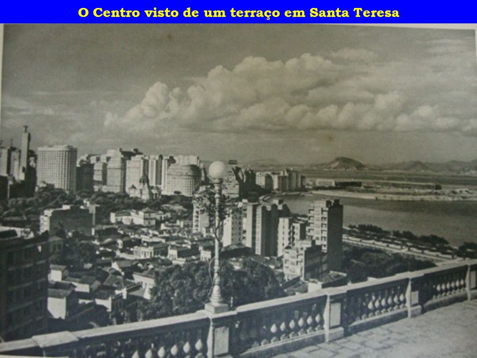 O Centro visto de um terraço em Santa Teresa