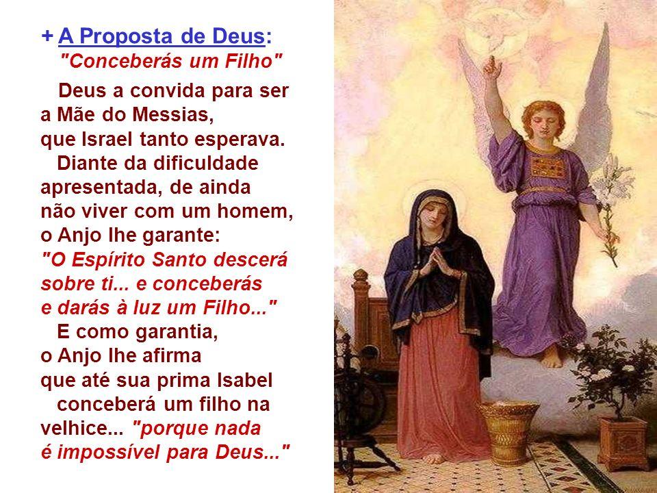 A alegria de Maria não nasce por se tornar a futura mãe de Jesus, mas porque o Senhor está com ela... , antes mesmo de conceber...