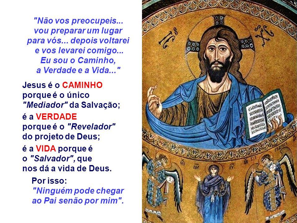 No Evangelho, a Igreja aparece como um Povo Peregrino que caminha para Deus, guiado por Cristo, que é o CAMINHO, a VERDADE e a VIDA. (Jo 14,1-12) O te