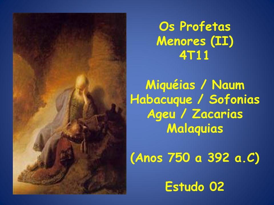Introdução (IV) Miquéias assistiu a tudo isto, porque profetizando entre 750/698 a.C.