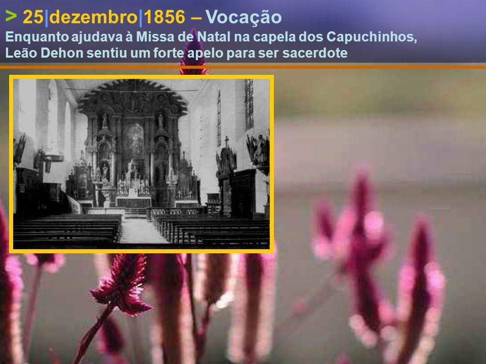 > 1|outubro|1855 – Entrada no Colégio de Hazebrouck Leão Dehon e o seu irmão Henrique frequentaram este Colégio durante 4 anos