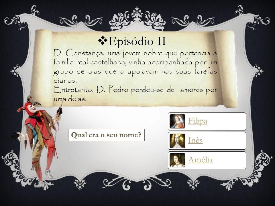 Pista 1 Para descobrires com quem casou D. Pedro consulta esta página web: http://web.educom.pt/pr1305/ines.pedro.htm# Introdução