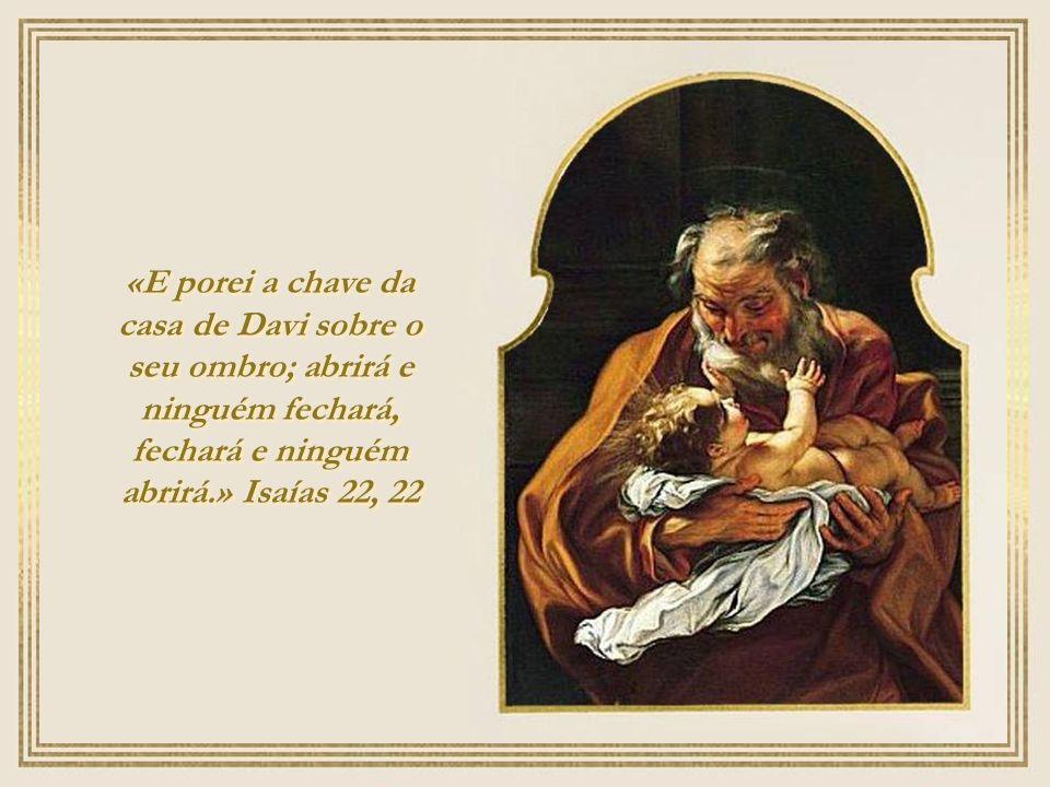 Ó Chave de Davi, cetro da casa de Israel que abris e ninguém fecha, que fechais e ninguém abre: vinde logo e libertai o homem prisioneiro, que nas tre