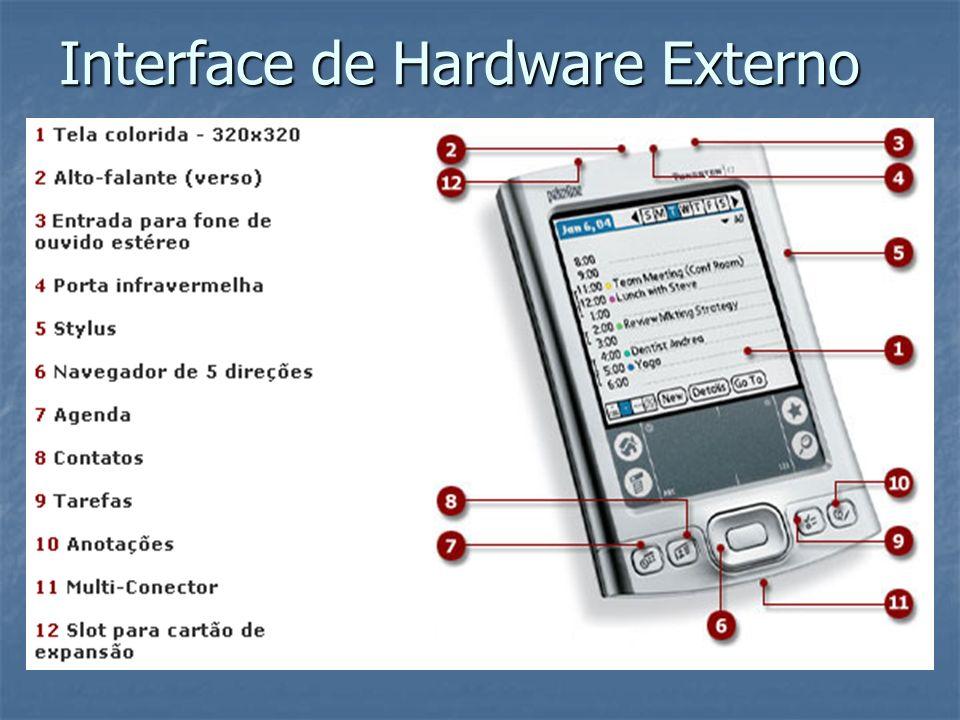 Recursos de Interface Gatilho seletor – invoca caixa de diálogo que altera o texto do controle.
