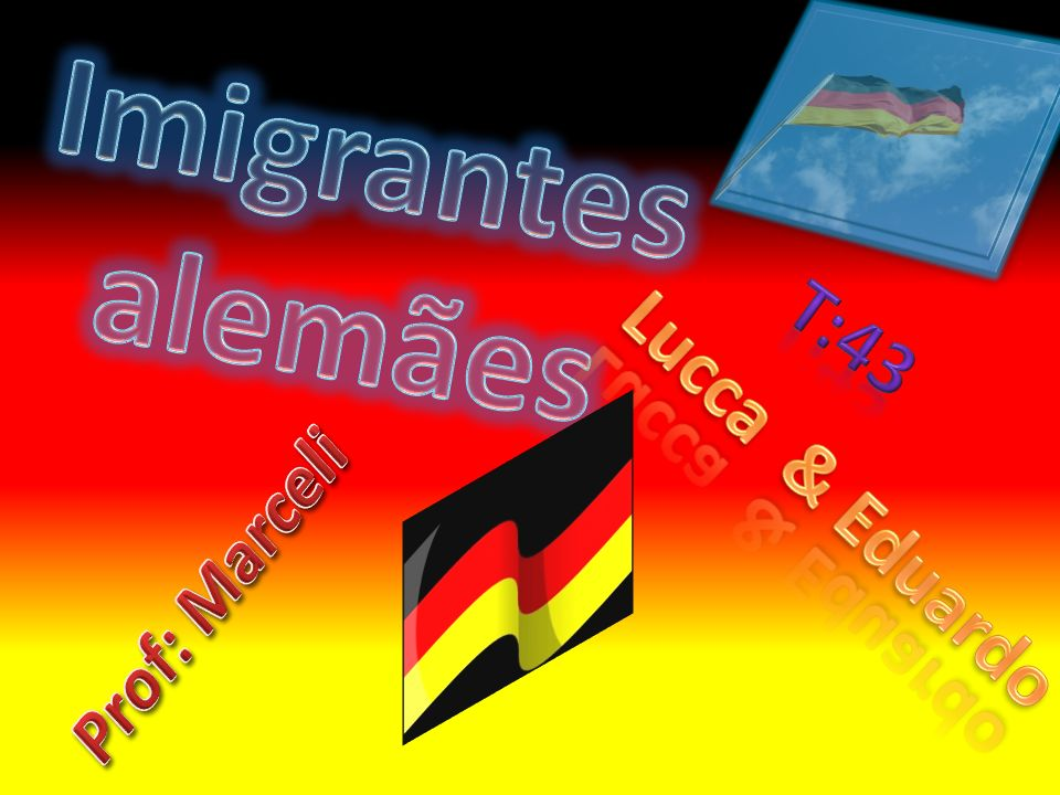 Os imigrantes alemães vieram de barco com pouca higiene.