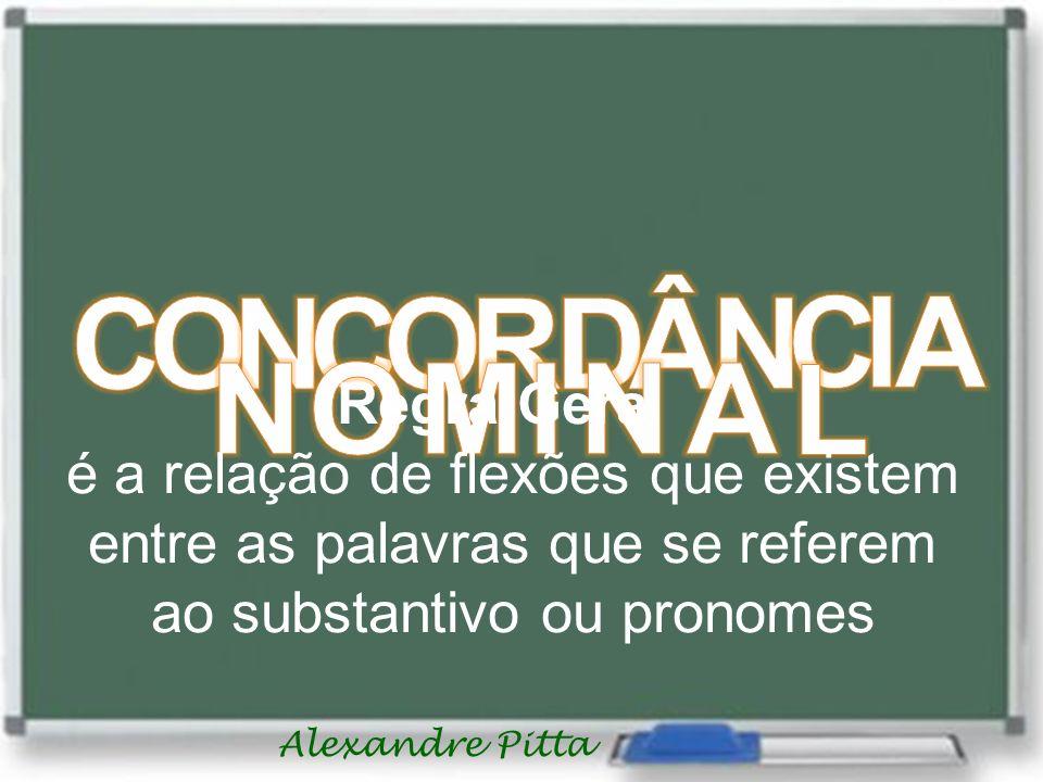 Alexandre Pitta Regra Geral é a relação de flexões que existem entre as palavras que se referem ao substantivo ou pronomes