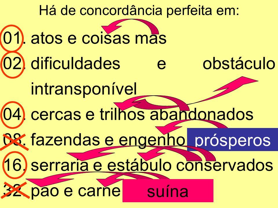 Alexandre Pitta Escolha a(s) alternativa(s) em que ocorra(m) algum erro de concordância nominal: I – Saiba que você cometeu um crime de lesa- majestade II – Estejam alertas, pois o inimigo não manda aviso.