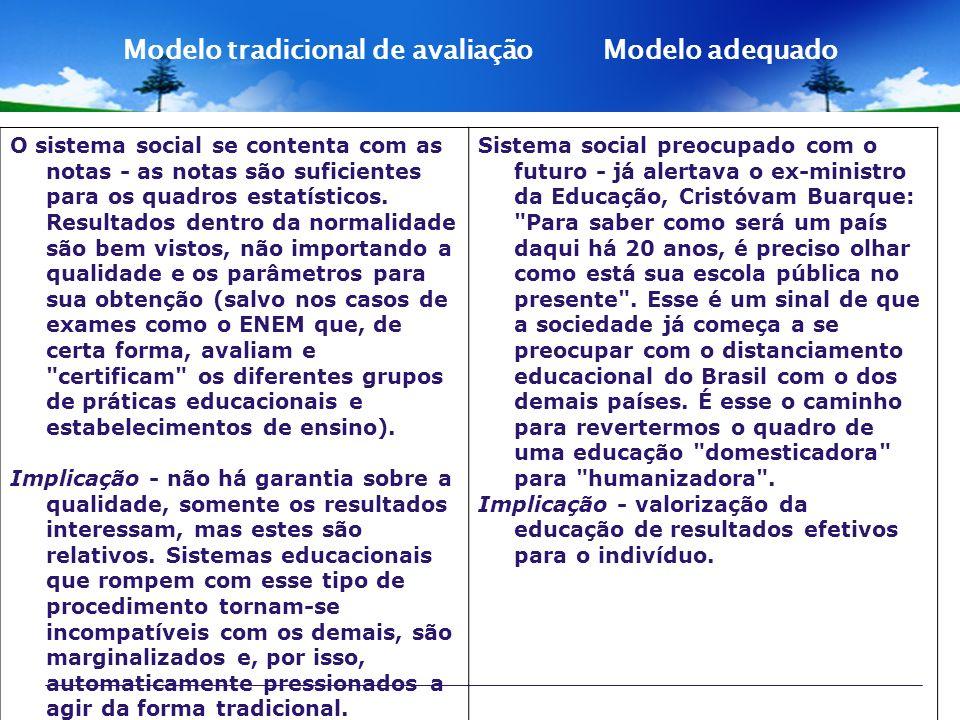 O sistema social se contenta com as notas - as notas são suficientes para os quadros estatísticos. Resultados dentro da normalidade são bem vistos, nã