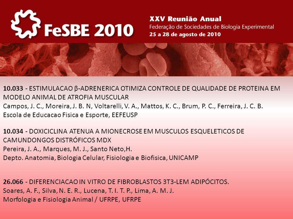 10.034 - DOXICICLINA ATENUA A MIONECROSE EM MUSCULOS ESQUELETICOS DE CAMUNDONGOS DISTRÓFICOS MDX Pereira, J. A., Marques, M. J., Santo Neto,H. Depto.