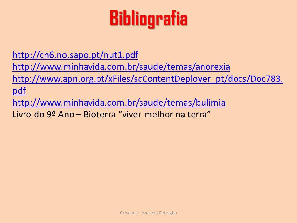 Cristiana - Azeredo Perdigão http://cn6.no.sapo.pt/nut1.pdf http://www.minhavida.com.br/saude/temas/anorexia http://www.apn.org.pt/xFiles/scContentDep