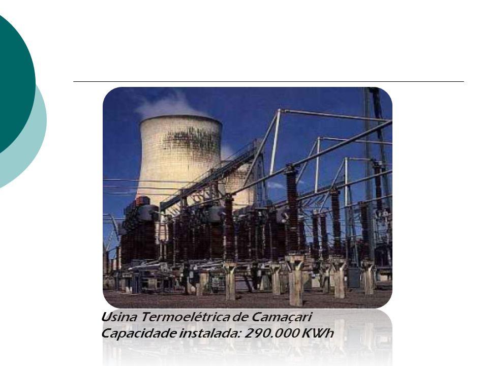 Usina Termoelétrica de Camaçari Capacidade instalada: 290.000 KWh