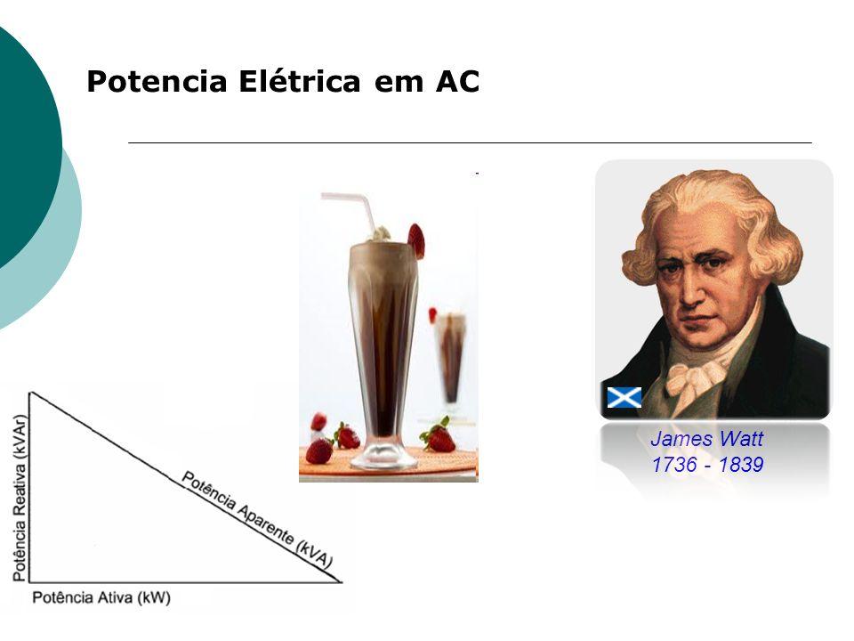 Potencia Elétrica em AC James Watt 1736 - 1839