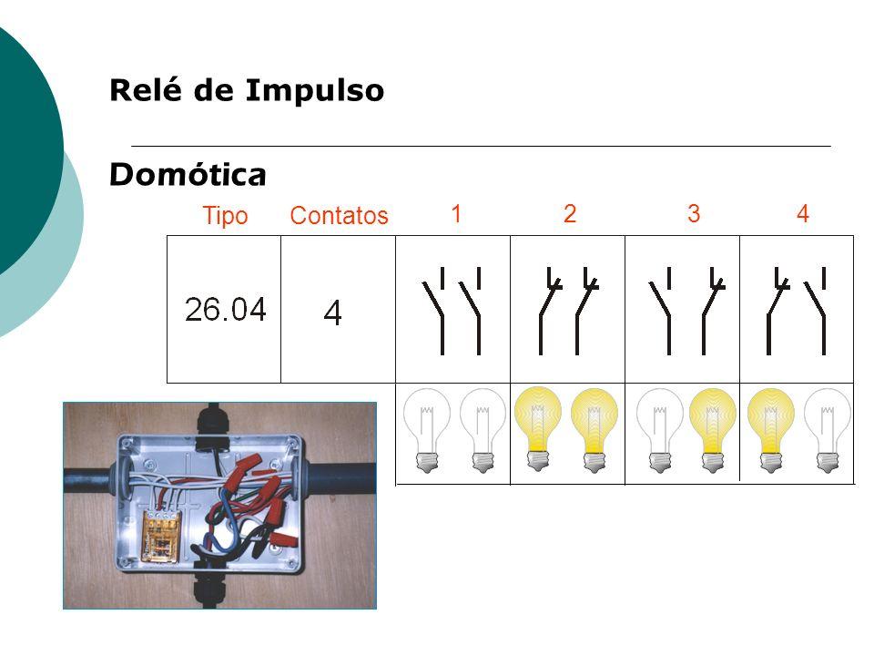Relé de Impulso TipoContatos 1234 Domótica