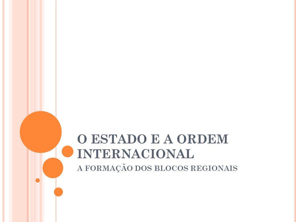 O ESTADO E A ORDEM INTERNACIONAL A FORMAÇÃO DOS BLOCOS REGIONAIS