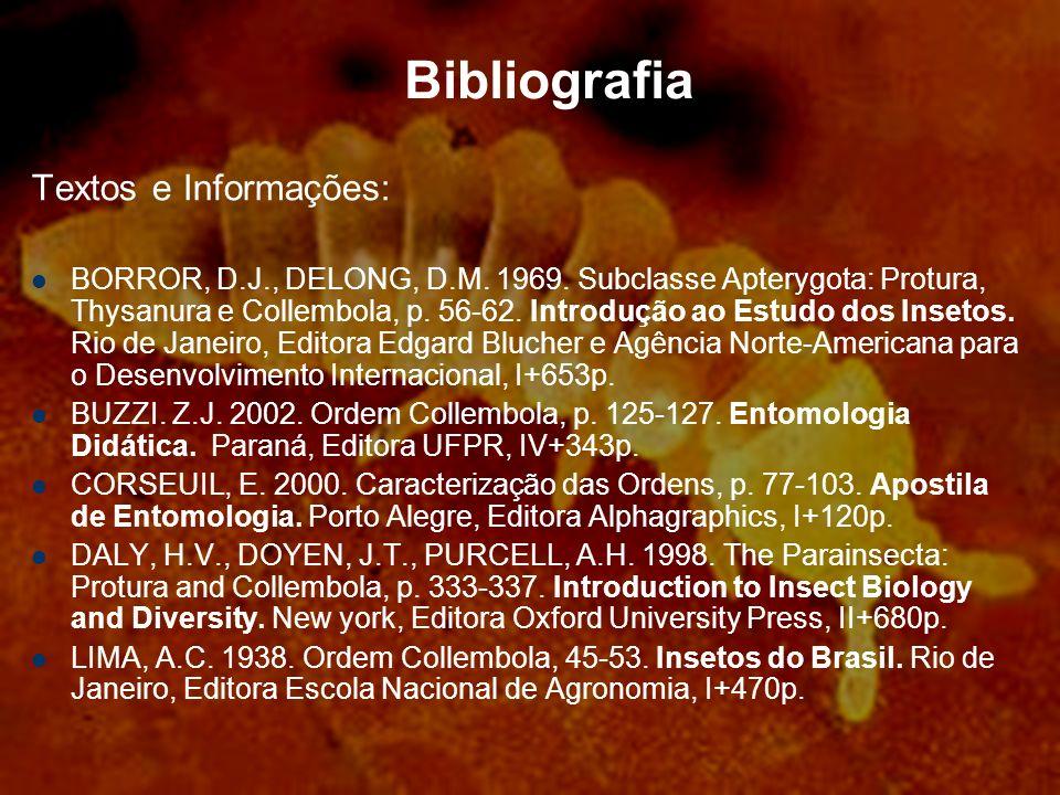 Bibliografia Textos e Informações: BORROR, D.J., DELONG, D.M.