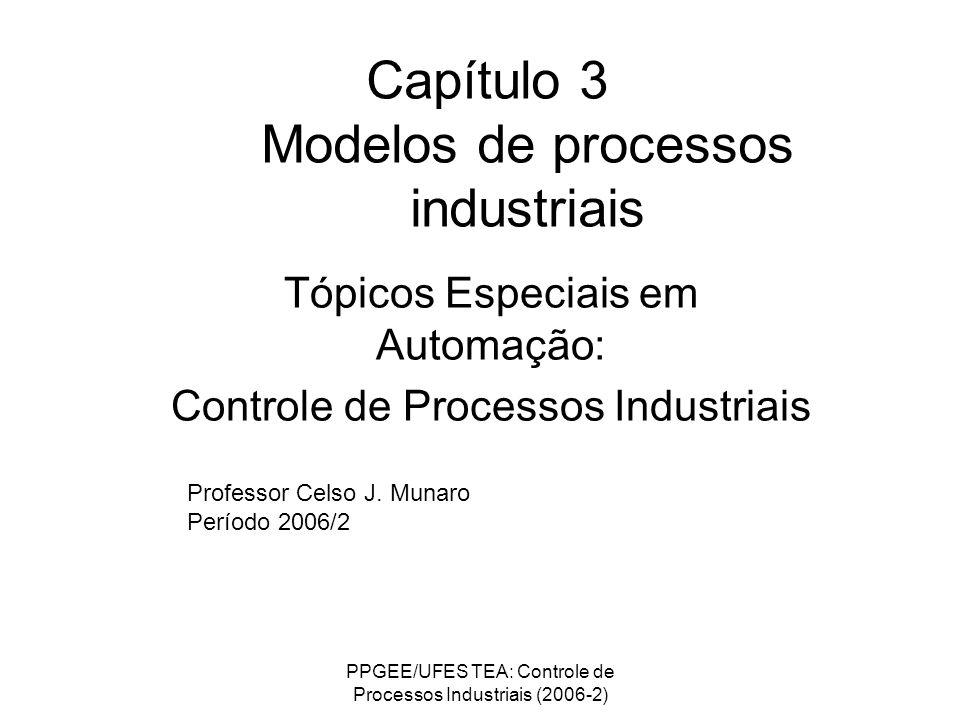 PPGEE/UFES TEA: Controle de Processos Industriais (2006-2) Capítulo 3 Modelos de processos industriais Tópicos Especiais em Automação: Controle de Pro