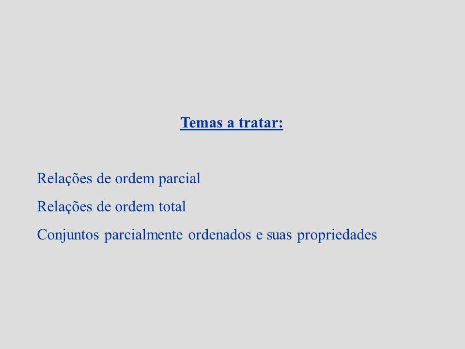 Exemplos: 1.Os cpos (IN; ), ( Z ; ), ( Q ; ) e (IR; ) com a operação usual, são cadeias.