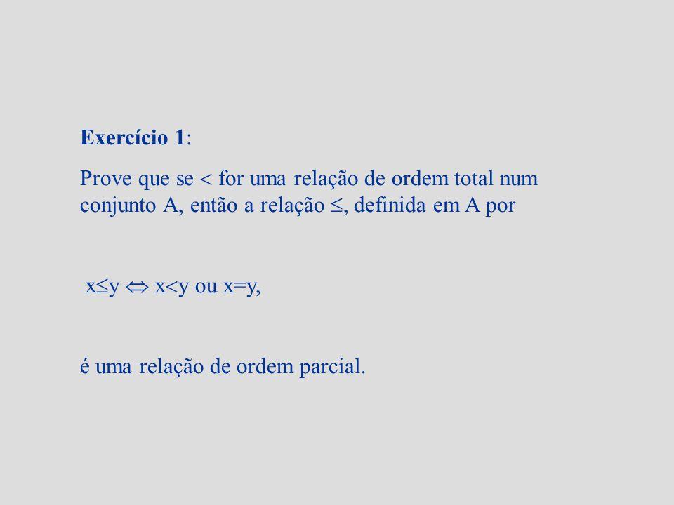 Exercício 4: Considere-se o cpo (A; ), com A = {1,2,..., 12}.