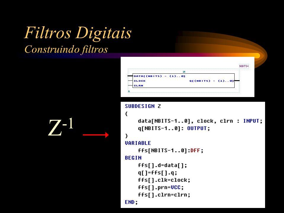 Filtros Digitais Construindo filtros Z -1
