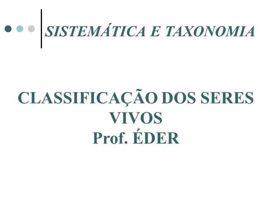 CLASSIFICAÇÃO DOS SERES VIVOS Prof. ÉDER SISTEMÁTICA E TAXONOMIA