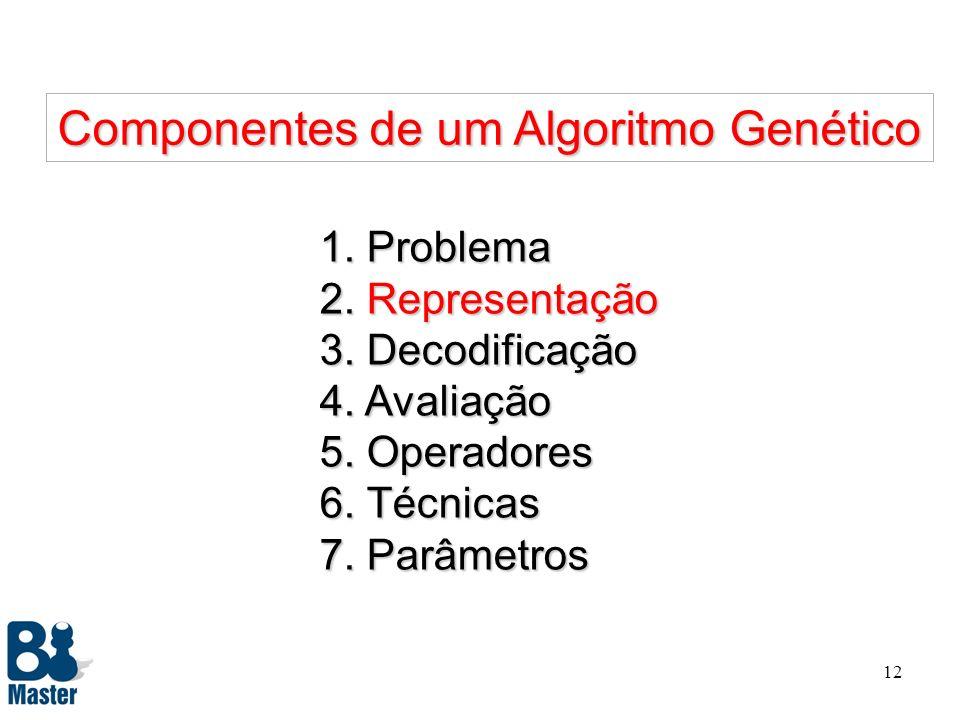 11 Características do Problema l A modificação dos pesos, número de cores e arcos, altera radicalmente a solução do problema. l Estratégias como o alg