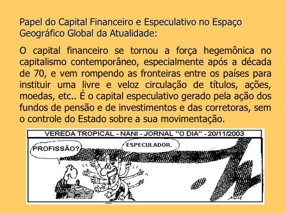 Papel do Capital Financeiro e Especulativo no Espaço Geográfico Global da Atualidade: O capital financeiro se tornou a força hegemônica no capitalismo
