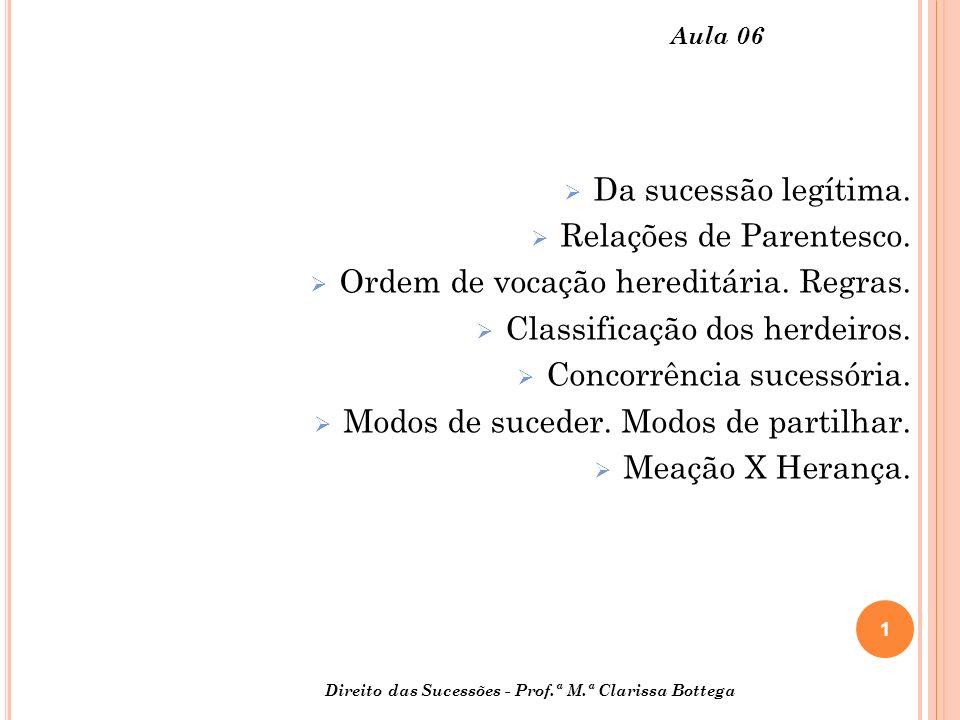 1 Aula 06 Da sucessão legítima.Relações de Parentesco.