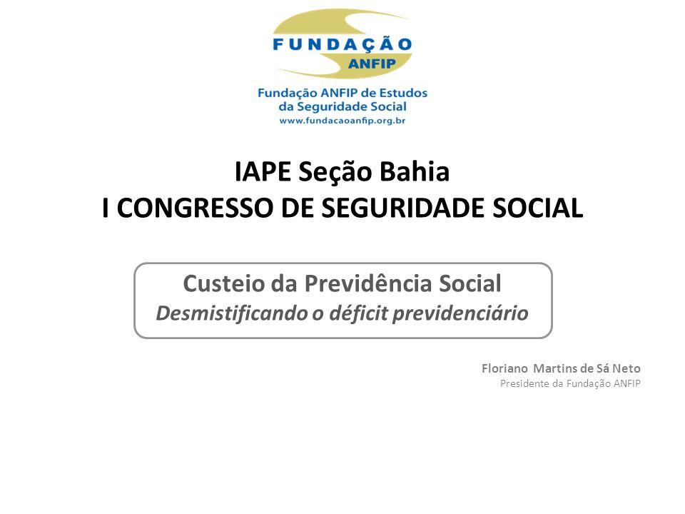 Crise Financeira Mundial Aumento PIB (7,5%) com recuperação da produção industrial, do volume de vendas e da massa salarial Fonte: Análise da Seguridade Social 2010.
