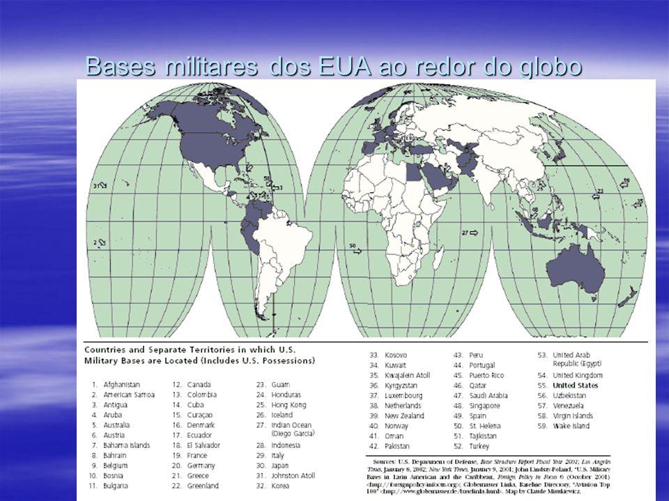 Bases militares dos EUA ao redor do globo