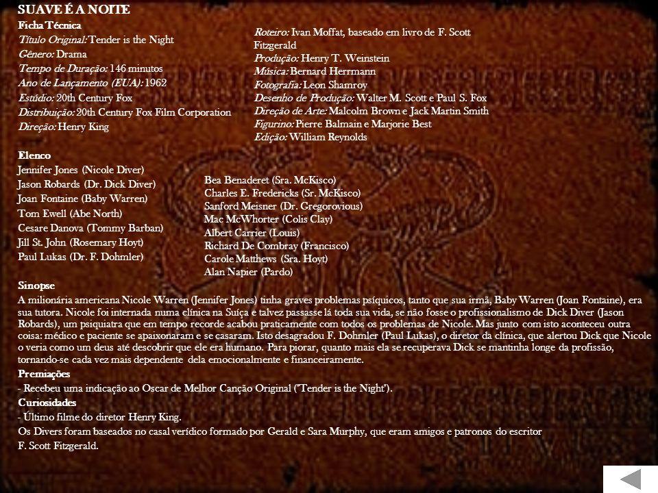 BONEQUINHA DE LUXO Ficha Técnica Título Original: Breakfast at Tiffany's Gênero: Drama Tempo de Duração: 115 minutos Ano de Lançamento (EUA): 1961 Est