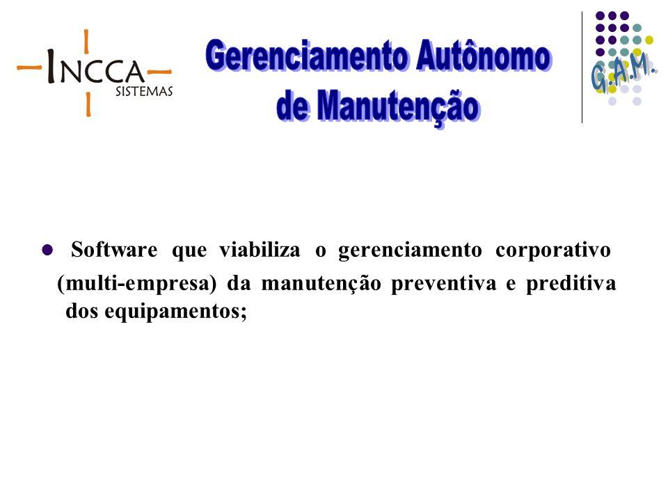 Software que viabiliza o gerenciamento corporativo (multi-empresa) da manutenção preventiva e preditiva dos equipamentos;