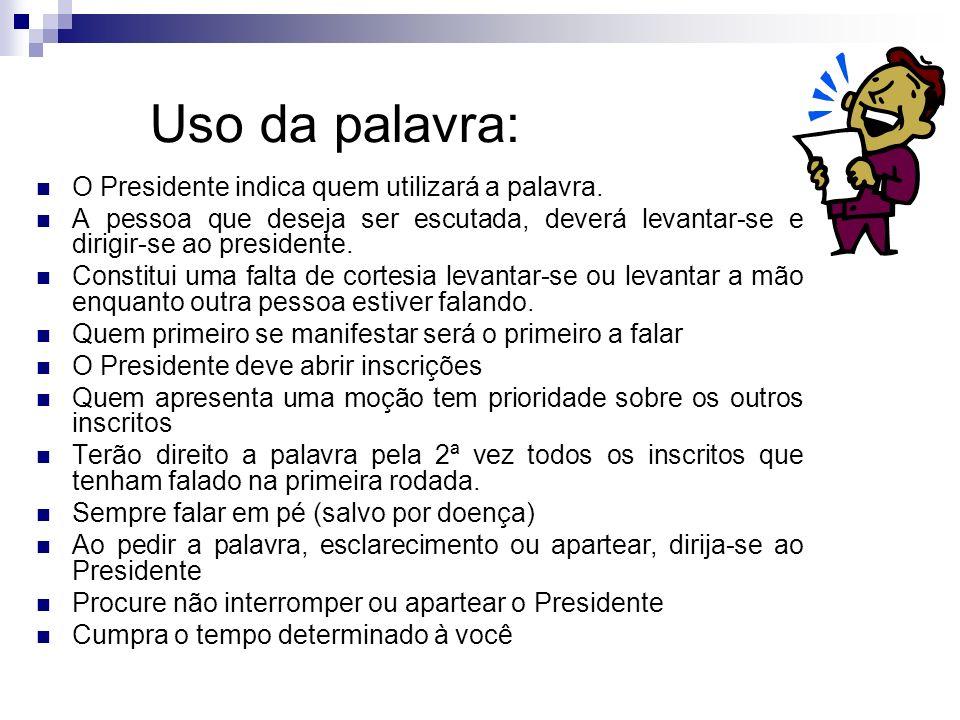 Particularidades Parlamentares Aplausos Tempo P/Falar Saudação as autoridades Horários das reuniões Campainha/Sinalizador Falar em Pé Tribuna/Microfone Inscrição para Debates Projetos Normas Parla-mentares R.R.