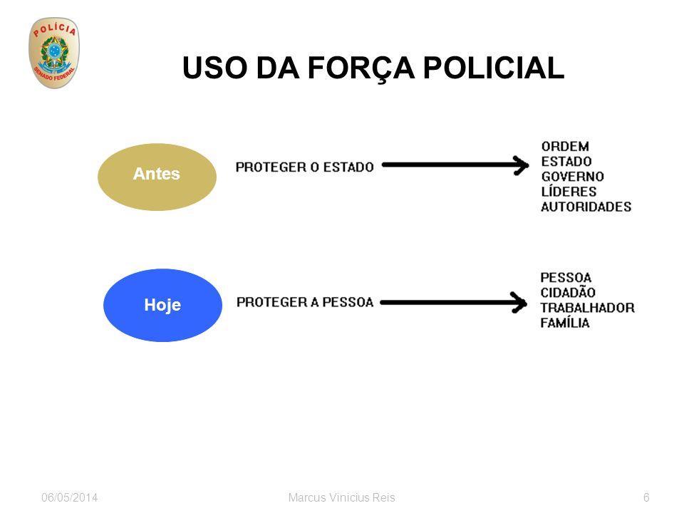 06/05/2014Marcus Vinicius Reis6 USO DA FORÇA POLICIAL Antes Hoje