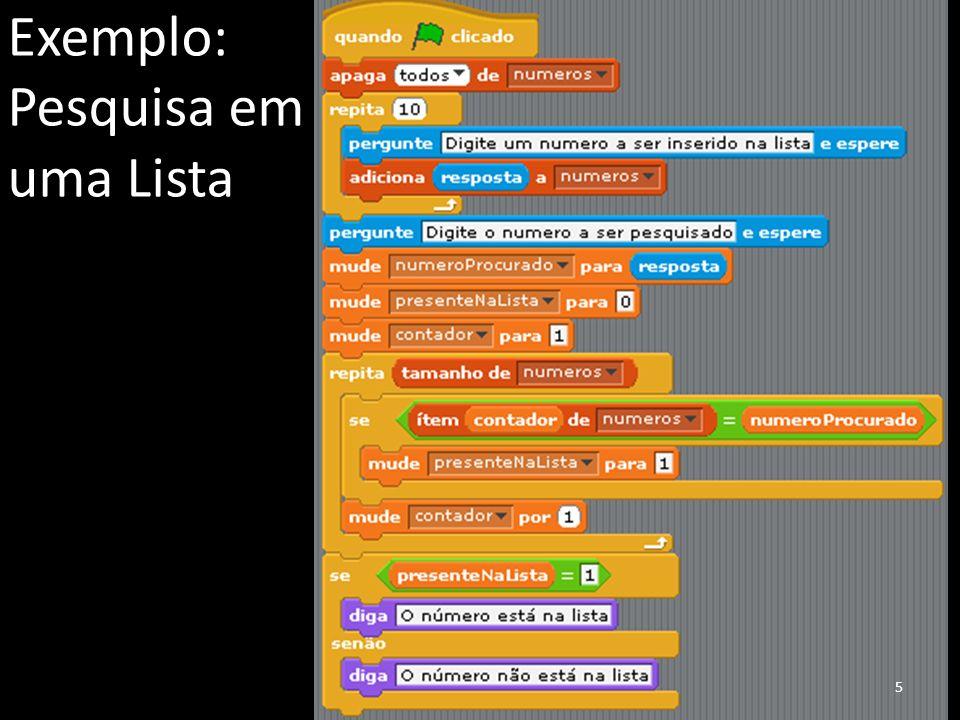 Exemplo: Pesquisa em uma Lista 5