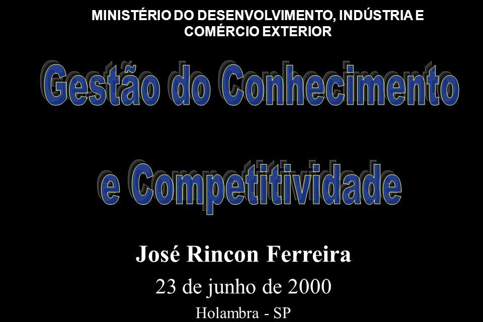 José Rincon Ferreira 23 de junho de 2000 Holambra - SP José Rincon Ferreira 23 de junho de 2000 Holambra - SP MINISTÉRIO DO DESENVOLVIMENTO, INDÚSTRIA E COMÉRCIO EXTERIOR