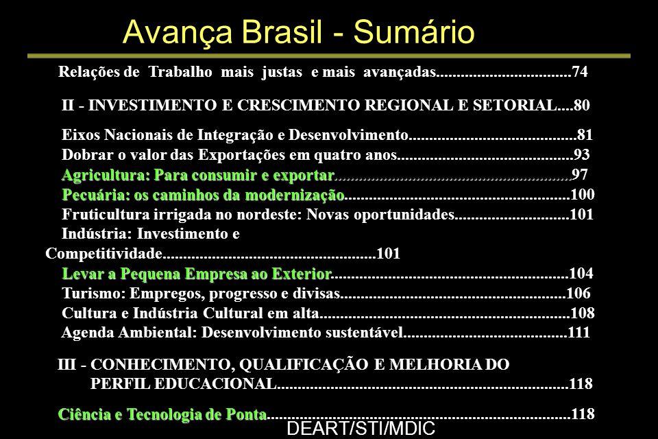 Avança Brasil DEART/STI/MDIC