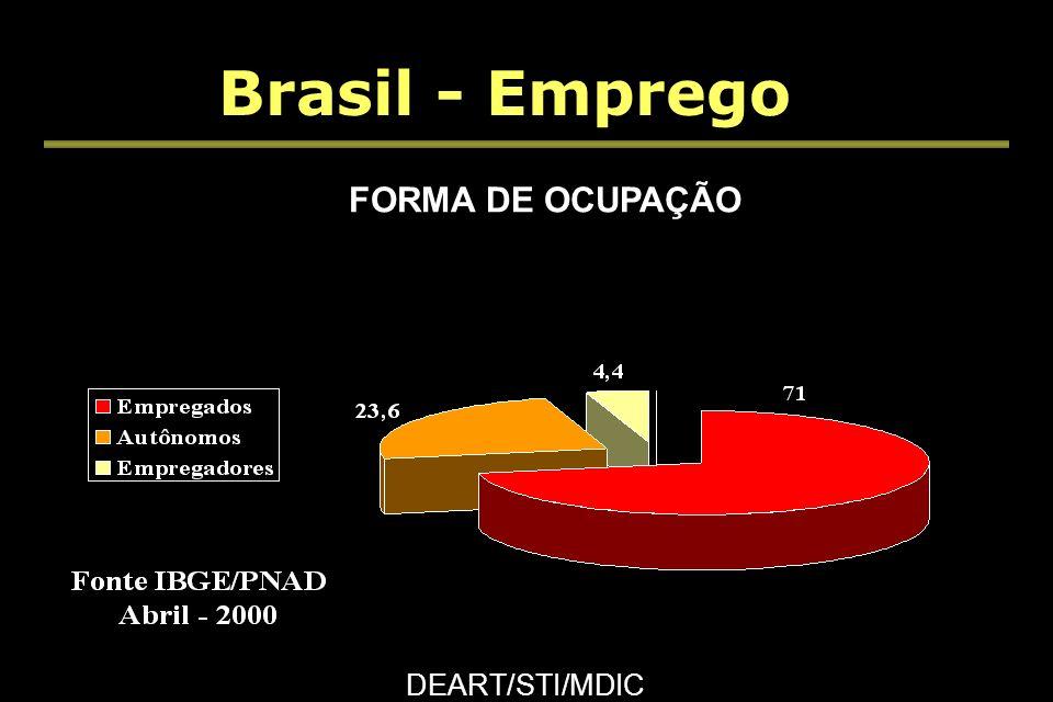 Brasil - Emprego DEART/STI/MDIC OCUPAÇÃO