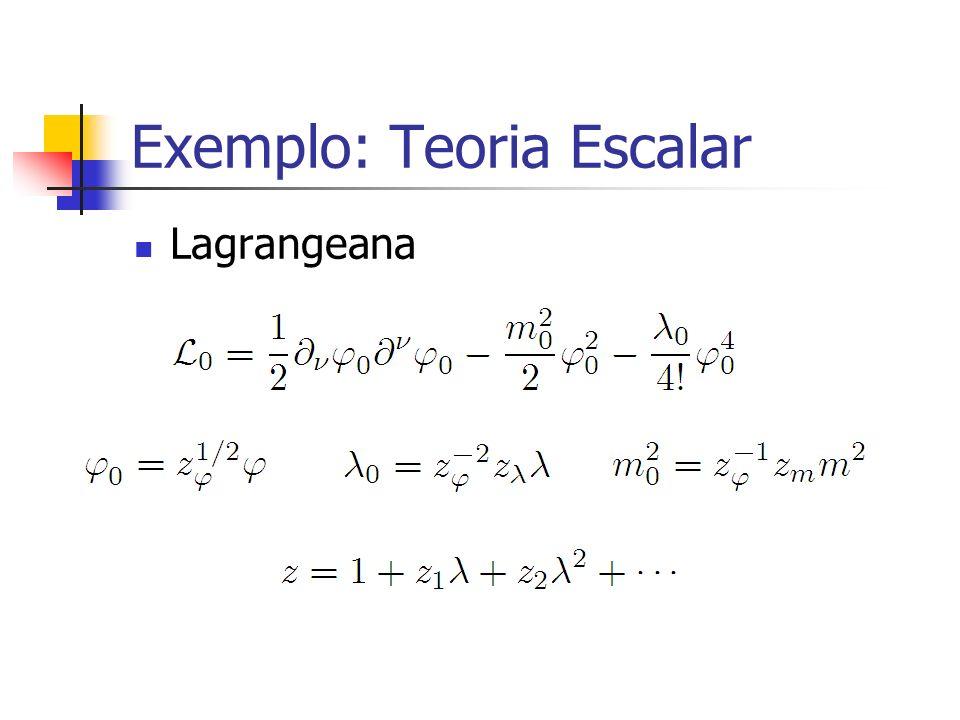 Exemplo: Teoria Escalar Lagrangeana