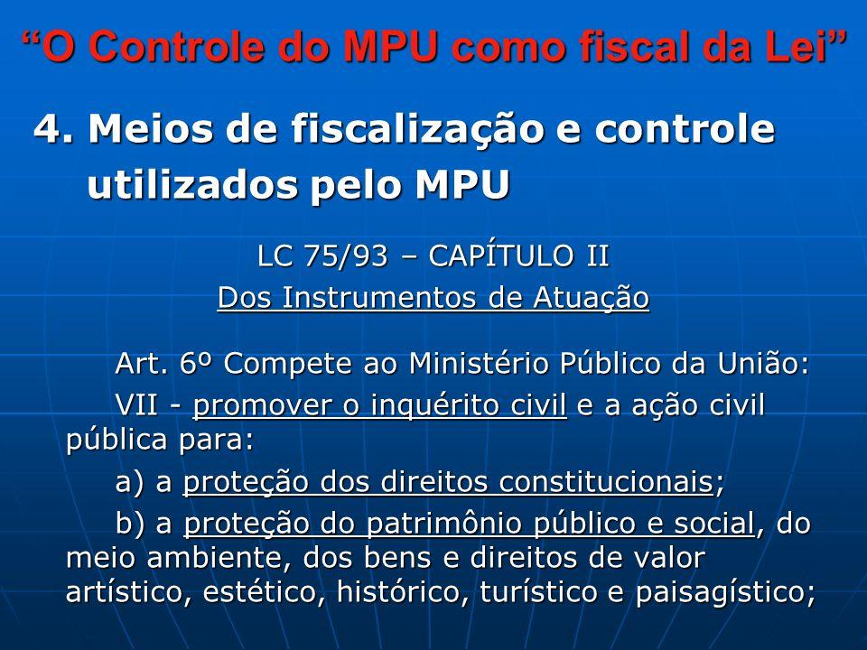 O Controle do MPU como fiscal da Lei 4.