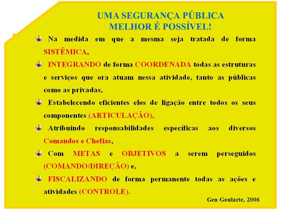 15 UMA SEGURANÇA PÚBLICA MELHOR É POSSÍVEL! Gen Goularte, 2006