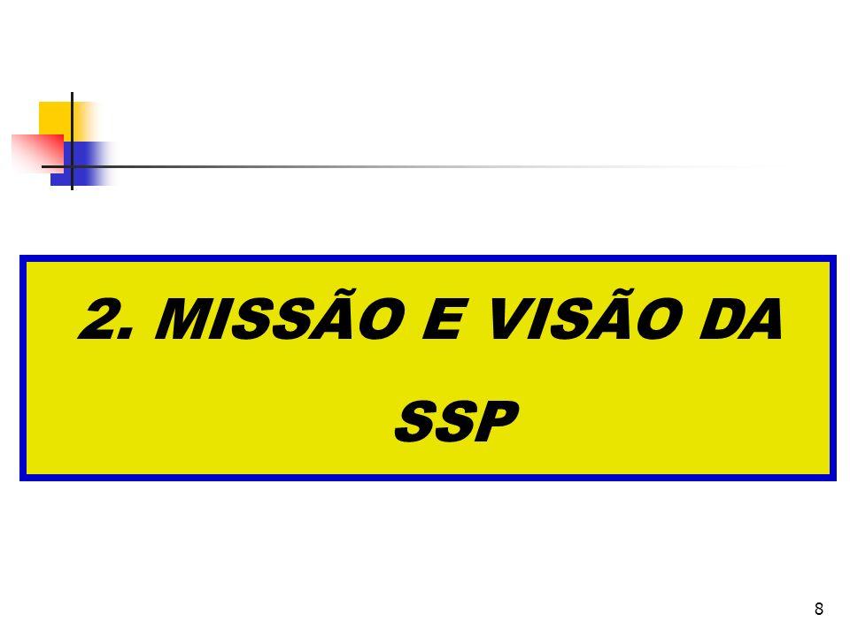 8 2. MISSÃO E VISÃO DA SSP