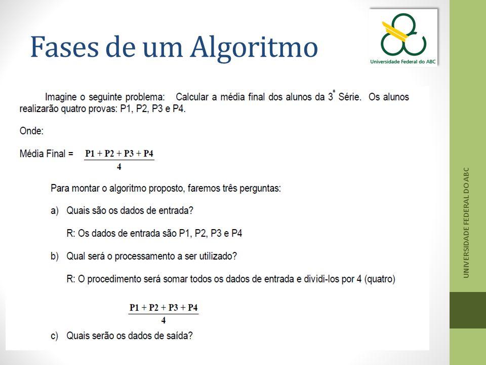 Fases de um Algoritmo UNIVERSIDADE FEDERAL DO ABC