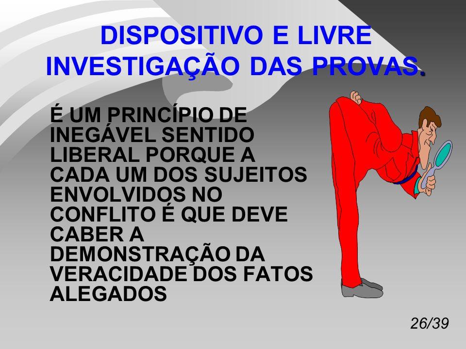 26/39.DISPOSITIVO E LIVRE INVESTIGAÇÃO DAS PROVAS.