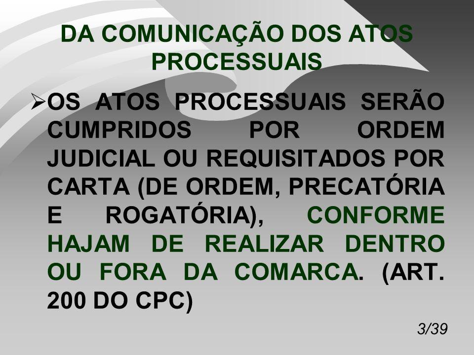 44/39 AGRAVO DE INSTRUMENTO O AGRAVO DE INSTRUMENTO CABERÁ CONTRA AS DECISÕES PROFERIDAS NO PROCESSO.
