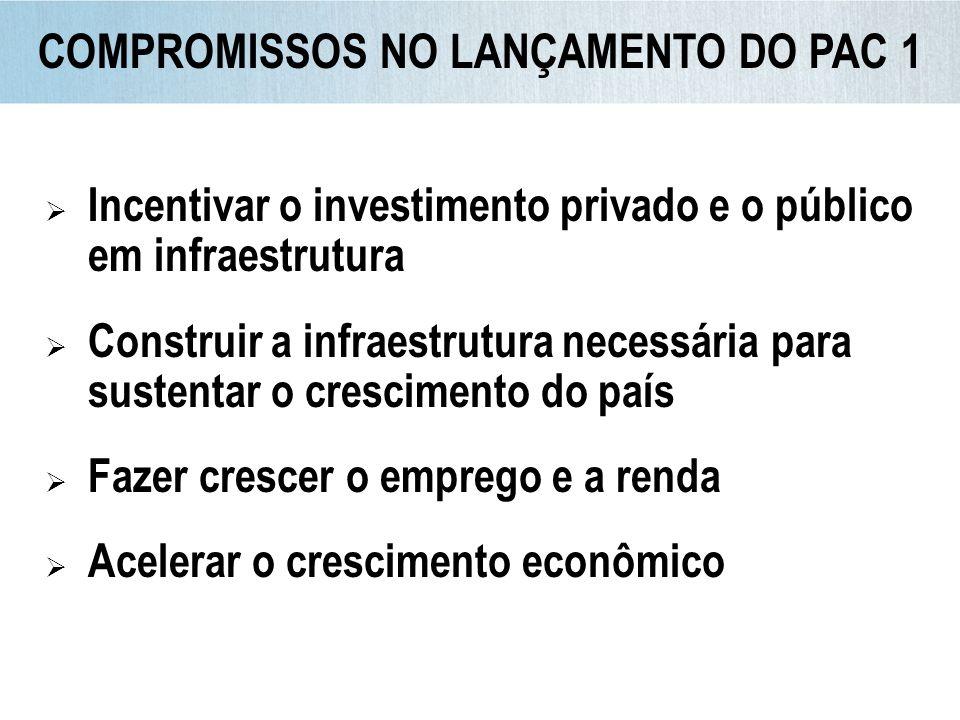 Incentivar o investimento privado e o público em infraestrutura Construir a infraestrutura necessária para sustentar o crescimento do país Fazer cresc